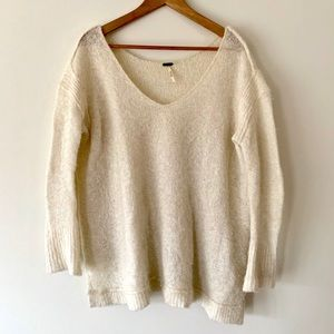 Free People Oversized Cream Sweater